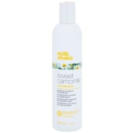 Milk Shake Sweet Camomile vyživujúci kondicionér pre blond vlasy bez parabénov  300 ml