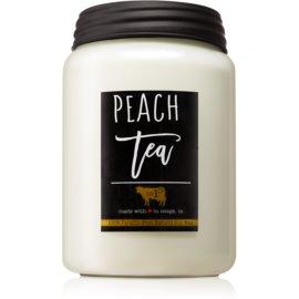 Milkhouse Candle Co. Farmhouse Peach Tea vonná svíčka Mason Jar 737 g