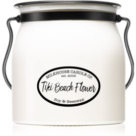 Milkhouse Candle Co. Creamery Tiki Beach Flower ароматна свещ  454 гр. Butter Jar