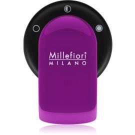 Millefiori GO supporto per deodoranti per auto   con ricarica Viola (Sandalo Bergamotto)