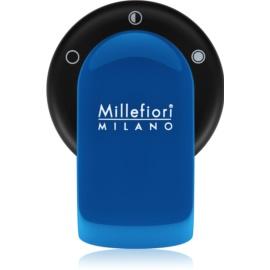 Millefiori GO supporto per deodoranti per auto   con ricarica Azzurro (Sandalo Bergamotto)