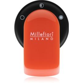 Millefiori GO supporto per deodoranti per auto   con ricarica Arancione (Sandalo Bergamotto)