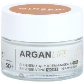 Mincer Pharma ArganLife N° 800 50+ regenerační noční krém-maska N°803  50 ml