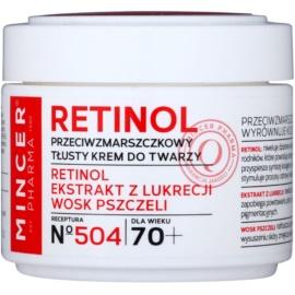 Mincer Pharma Retinol N° 500 creme antirrugas 70+ N° 504  50 ml