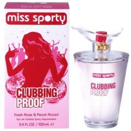 Miss Sporty Clubbing Proof toaletní voda pro ženy 100 ml