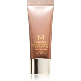 Missha M Signature Real Complete BB krema za brezhiben in enoten videz kože mini odtenek No. 21 Light Pink Beige SPF25/PA++   20 g