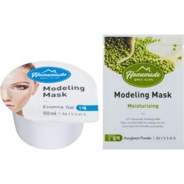 Missha Homemade Mungbean Powder Modellierende Gesichtsmaske mit Feuchtigkeit spendender Wirkung 5 g + 50 ml