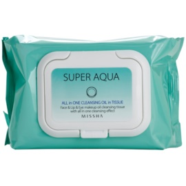 Missha Super Aqua All In One robčki za odstranjevanje ličil 2v1  40 kos