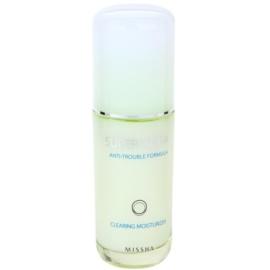 Missha Super Aqua Anti-Trouble Formula emulsão hidratante para pele problemática  40 ml