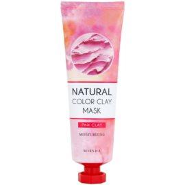 Missha Natural Color Clay máscara de argila brasileira com efeito hidratante Pink Clay 137 g