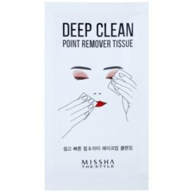 Missha The Style Deep Clean odličovací ubrousky  15 ks