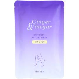 Missha Ginger & Vinegar peelingová maska na nohy  40 ml