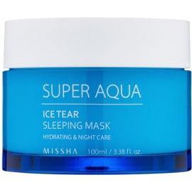 Missha Super Aqua Ice Tear Feuchtigkeit spendende Gesichtsmaske für die Nacht  100 ml