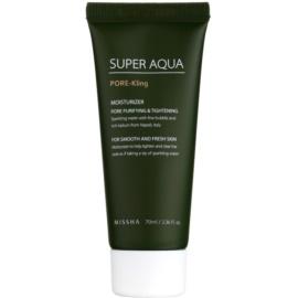Missha Super Aqua Pore - Kling feuchtigkeitsspendende Emulsion für das Gesicht vergrößerte Poren  70 ml