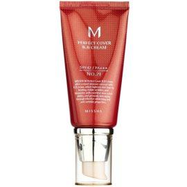Missha M Perfect Cover krem BB z wysoką ochroną UV odcień No. 21 Light Beige SPF42/PA+++ 50 ml
