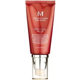 Missha M Perfect Cover BB krema z visoko UV zaščito odtenek No. 21 Light Beige SPF42/PA+++ 50 ml