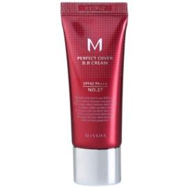 Missha M Perfect Cover krem BB z bardzo wysokim filtrem UV małe opakowanie odcień No. 27 Honey Beige SPF 42/PA+++ 20 ml