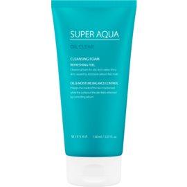 Missha Super Aqua Oil Clear mousse nettoyante rafraîchissante visage  150 ml