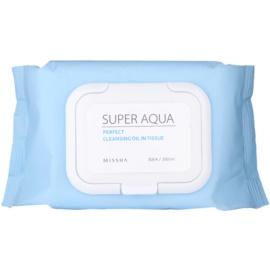 Missha Super Aqua Perfect čisticí ubrousky s rostlinnými oleji  30 ks