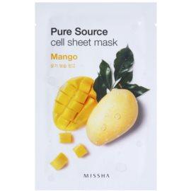Missha Pure Source plátýnková maska s hydratačním účinkem Mango 21 g