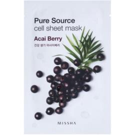 Missha Pure Source maseczka płócienna o działaniu rewitalizującym Acai Berry 21 g