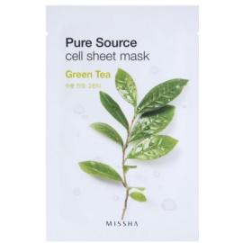 Missha Pure Source Zellschichtmaske mit beruhigender Wirkung Green Tea 21 g