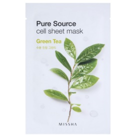 Missha Pure Source тканинна маска зі заспокоюючим ефектом Green Tea 21 гр