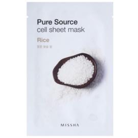 Missha Pure Source Zellschichtmaske für zarte Haut Rice 21 g