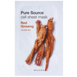 Missha Pure Source Energising Cloth Facial Mask Red Ginseng 21 g