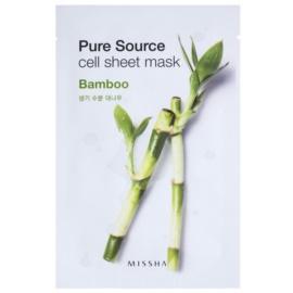 Missha Pure Source Zellschichtmaske mit feuchtigkeitsspendender und revitalisierender Wirkung Bamboo 21 g