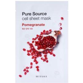 Missha Pure Source feszesítő arcmaszk Pomegranate 21 g