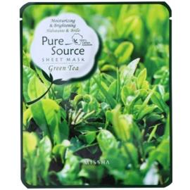 Missha Pure Source зволожуюча маска з екстрактом зеленого чаю Green Tea  21 гр