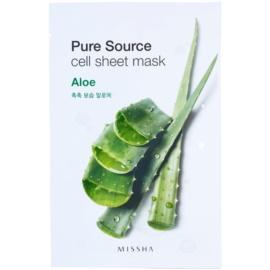 Missha Pure Source Zellschichtmaske mit feuchtigkeitsspendender und glättender Wirkung Aloe 21 g