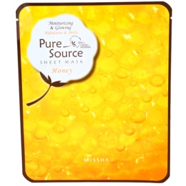 Missha Pure Source máscara hidratante com mel  Honey  21 g