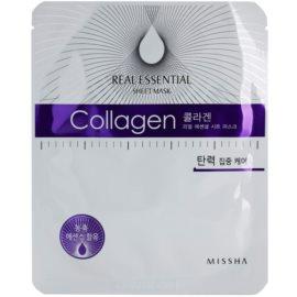 Missha Real Essential kolagenska maska za učvrstitev obraza  25 g