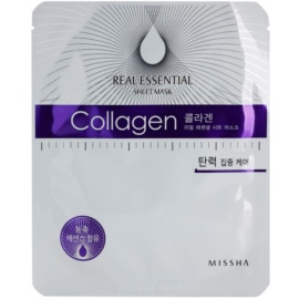 Missha Real Essential kolagenová maska pro zpevnění pleti  25 g