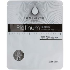 Missha Real Essential platinová pleťová maska Platinum  25 g