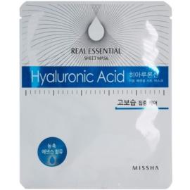 Missha Real Essential máscara de pele com ácido hialurônico com ácido hialurónico  25 g