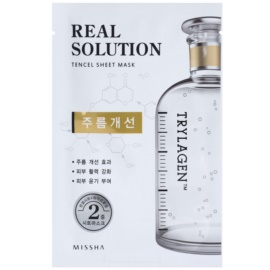 Missha Real Solution mascarilla hoja con efecto antiarrugas  25 g