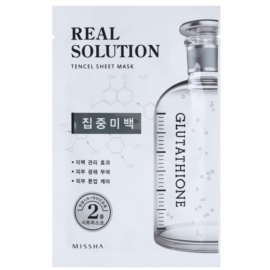 Missha Real Solution Sheet Mask with Whitening Effect  25 g