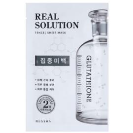 Missha Real Solution maska iz platna z belilnim učinkom  25 g