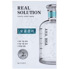 Missha Real Solution plátýnková maska pro zmenšení pórů  25 g