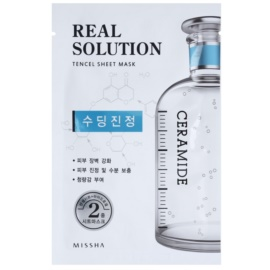 Missha Real Solution Zellschichtmaske mit beruhigender Wirkung  25 g