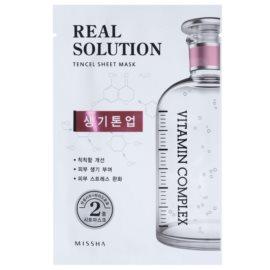 Missha Real Solution mascarilla hoja con efecto iluminador  25 g