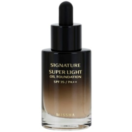 Missha Signature olejový tekutý make-up SPF 35 odstín W21/PA++ 30 ml