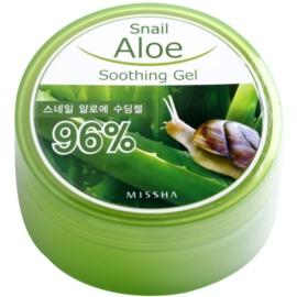 Missha Snail Aloe zklidňující a hydratační gel s aloe vera  se šnečím extraktem  285 ml