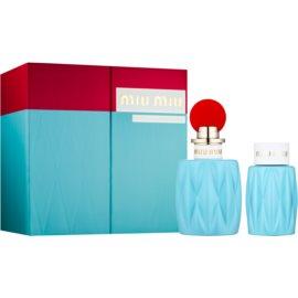 Miu Miu Miu Miu подаръчен комплект III.  парфюмна вода 100 ml + мляко за тяло 100 ml