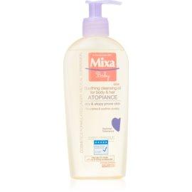 MIXA Atopiance óleo de limpeza suave para cabelo e peles atópicas  250 ml