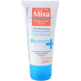 MIXA 24 HR Moisturising crema hidratante y calmante para pieles sensibles e intolerantes  50 ml