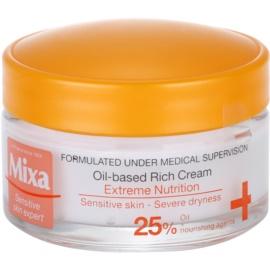 MIXA Extreme Nutrition bohatý výživný krém s pupalkovým olejem a hydratačními složkami  50 ml